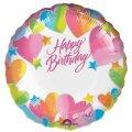 "18"" Birthday Hearts Mylar Balloon - Personalized Capable Balloon"