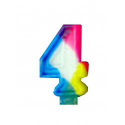 Numeral Candle - #4 (Number Four)