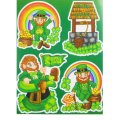 St. Patrick's Static Window Cling - Assorted Designs - 3 Pk