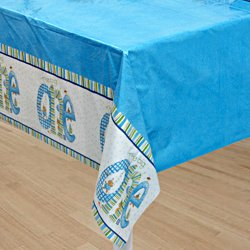 The Big One Plastic Tablecover Blue