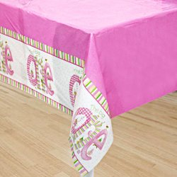 The Big One Plastic Tablecover Pink