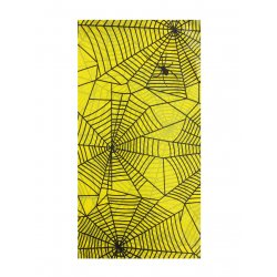 Halloween Tablecover Yellow Spider Web
