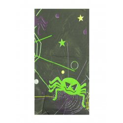 Halloween Tablecover Black Spider Web