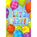Lets Party Balloon Themed Party Invitations w/ Envelopes - 8 cnt.