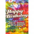 "Happy Birthday ""You're Invited to a Party"" Invitations w/ Envelopes - 8cnt."