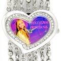 Hannah Montana Kids Silver Gem Heart Analogue Watch Bracelet