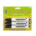 Dry Erase Markers - 3 Pack of Black Bullet Tip Markers