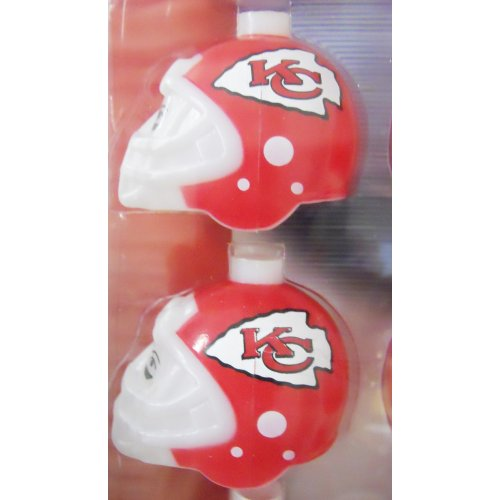 ba04815f787 NFL Party String Lights - Kansas City Chiefs Football Helmet Christmas  Lights