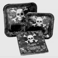 Happy Halloween Party Set- Skull & Crossbone Party Set - Serves 12