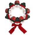 Holiday Wreath - Plush Snowman Decor