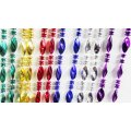 "Mardi Gras Twist Bead Necklaces - 60"" in. Each - 1 Dozen"