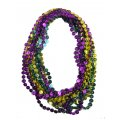 "Coin Bead Necklaces, Mardi Gras - 33"" ea. - 1 Dozen"