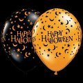 "12   11"" Latex Halloween Moons and Stars Halloween Balloons Assorted Colors"