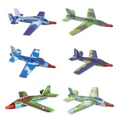 Foam WWII Assorted Gliders (Box of 12 Different Planes 48 in Total) By Hepkat Provisioners