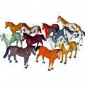Mini Plastic Horse Figures 12pk