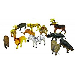 Animals of the Wild Toy Figurines - 12 Toy Animals