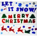 Christmas Window Banner Gel Art - 3pc Cling Holiday Decorations